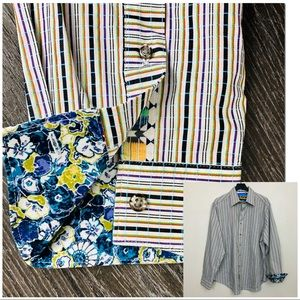Robert Graham Classic Fit Button Down Sz XXL